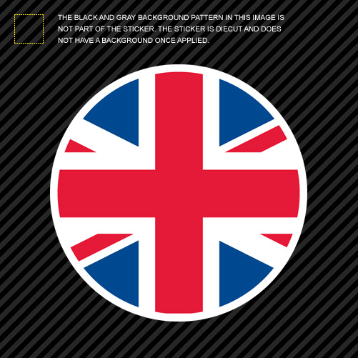 Round Union Jack Sticker Die Cut Decal Uk British United
