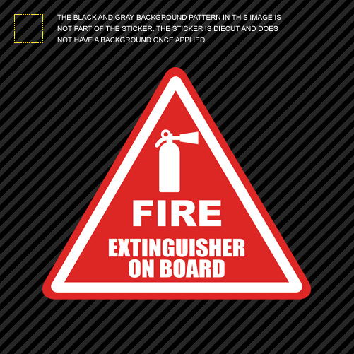 Fire Extinguisher on Board Sticker Die Cut Decal Vinyl Off Road Race