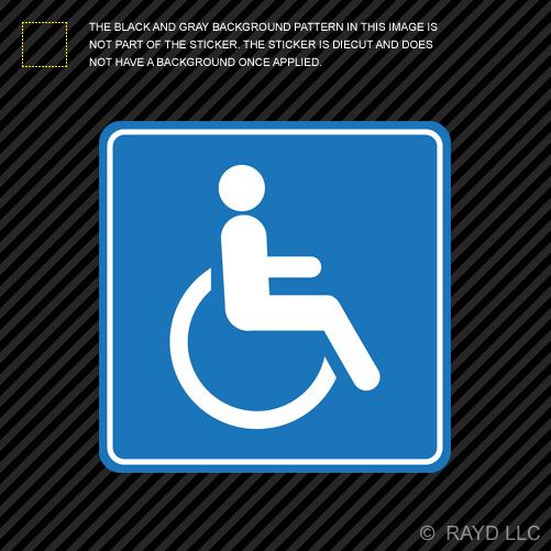 Handicap Sticker Die Cut Decal Self Adhesive Vinyl Wheelchair