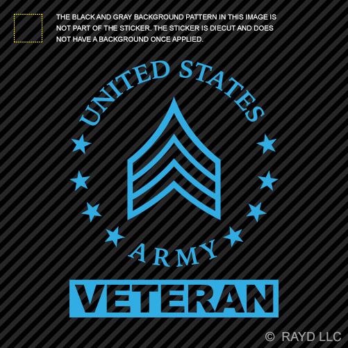 E 5 sergeant veteran us army rank sticker