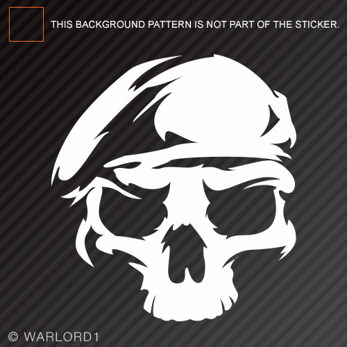 Us army ranger skull sticker die cut decal