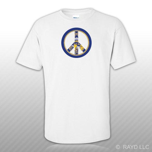 Nebraska Flag Peace Symbol T Shirt Tee Shirt Cotton Ne Sign No War
