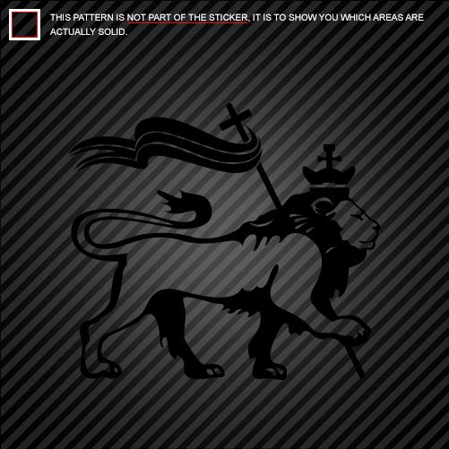 2x lion of judah with rasta flag sticker