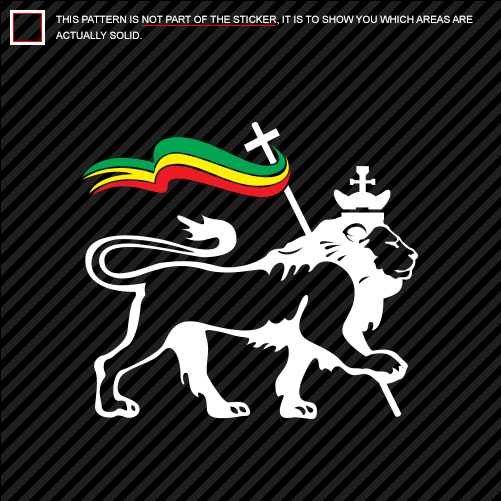 Multi color lion of judah with rasta flag