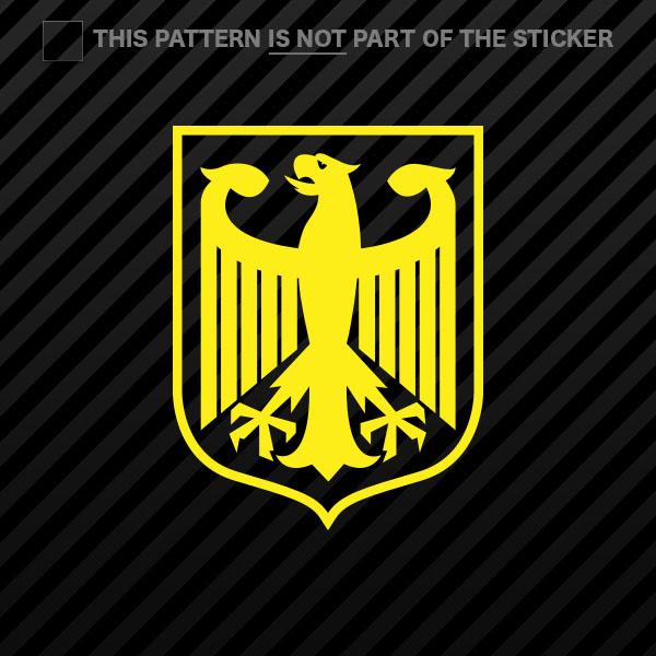 2x) Deutschland Germany Sticker Self Adhesive Vinyl eagle crest ...