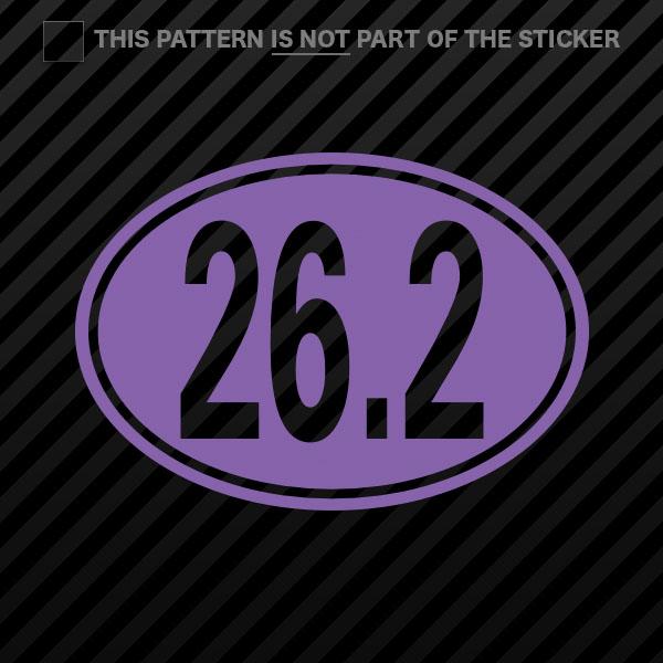 Oval 26.2 Sticker Self Adhesive Vinyl marathon 26 miles 2x
