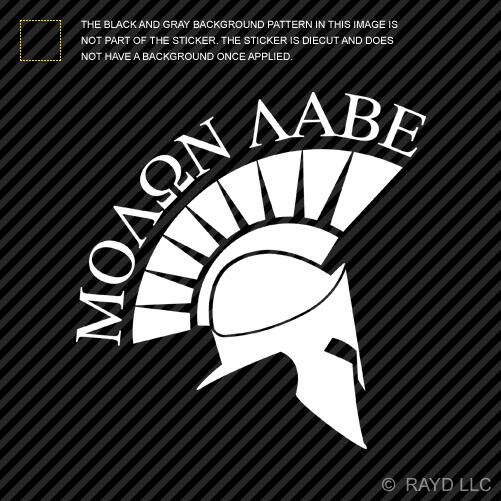 2x Molon Labe Sticker Die Cut Vinyl Decal Come And Take