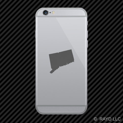 Connecticut Shaped Cell Phone Sticker Mobile CT many colors 2x