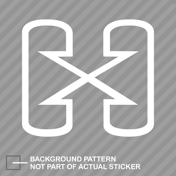 Hybrid logo sticker die cut decal green environmental
