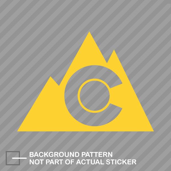 Colorado Mountain Outdoor Sticker Decal Vinyl Co Denver