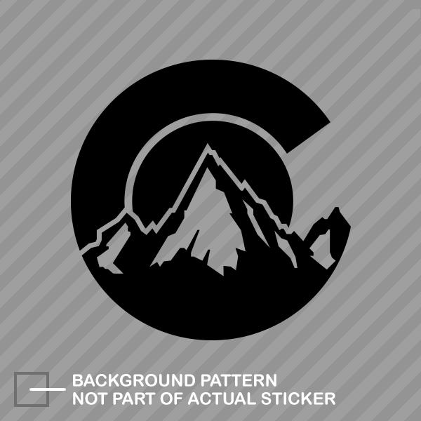 Colorado C Logo Shaped Sticker Decal Vinyl Co Denver