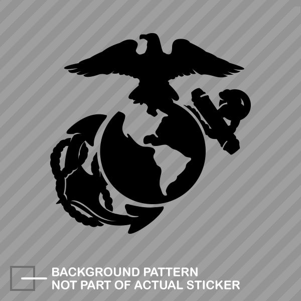 Usmc Marine Corps Sticker Die Cut Decal Ega Marines Semper Fi Earth