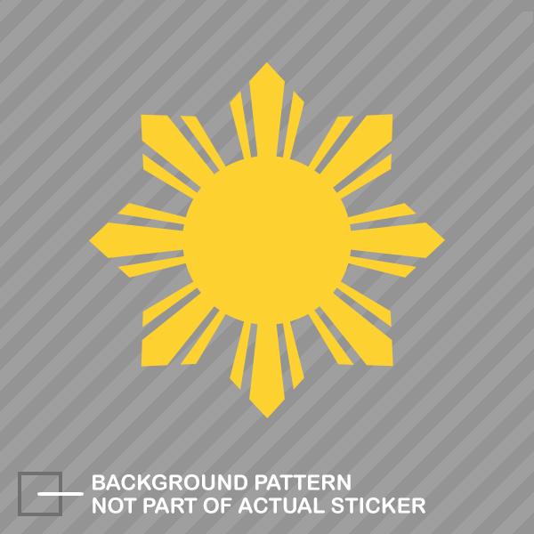 Philippines sun sticker die cut decal filipino stars