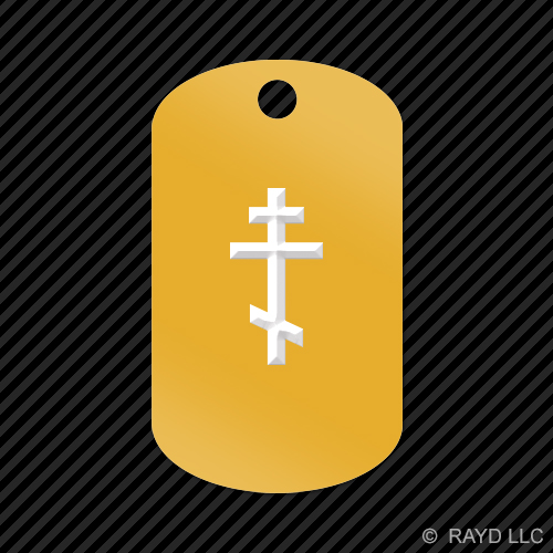 Eastern-Orthodox-Cross-Keychain-GI-dog-tag-engraved-many-colors-Byzantine