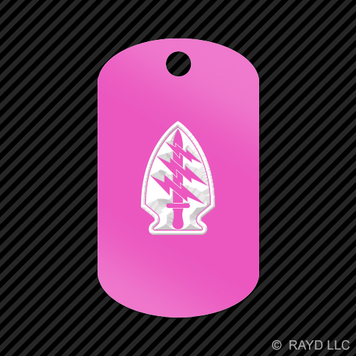 Special-Forces-Airborne-Insignia-Keychain-GI-dog-tag-engraved-many-colors