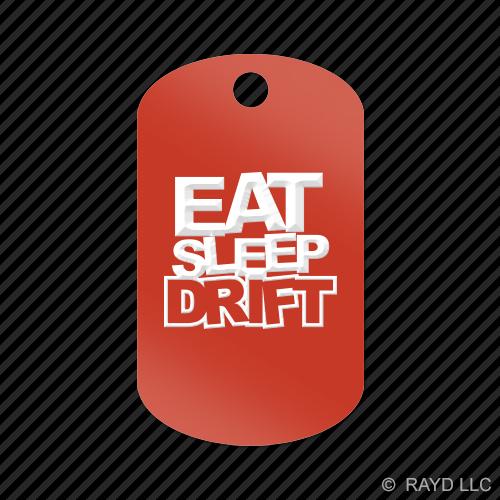 Eat-Sleep-Drift-Keychain-GI-dog-tag-engraved-many-colors-1-jdm-drift