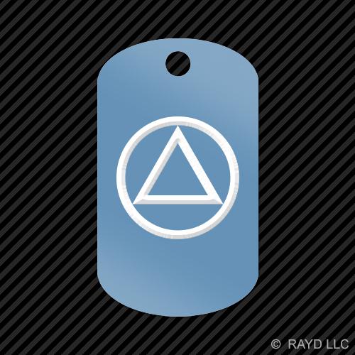 Aa Alcoholics Anonymous Symbol Keychain Gi Dog Tag Engraved Many