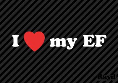 Love my EF Sticker Decal Die Cut Vinyl
