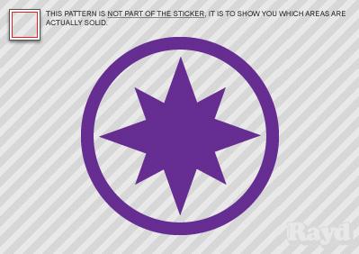 2x Violet Lantern Corps Sticker Decal Star Sapphire Ebay