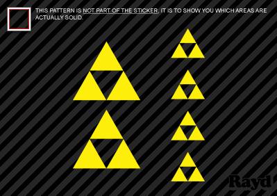 Set Of 6 Zelda Triforce Sticker Decal Die Cut Self