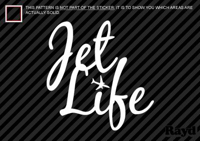 2x) Jet Life Sticker Decal Die Cut vinyl