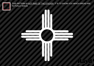2x New Mexico State Flag Sante Fe Logo Sticker Decal Ebay
