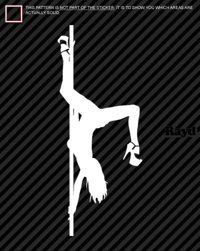 2x Sexy Stripper Girl Sticker Decal Die Cut 9