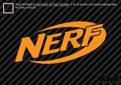 2x Nerf Sticker Decal Die Cut 2 Quot Inch Ebay
