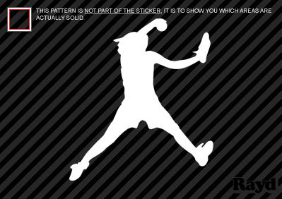 Softball Pitcher Sticker Decal Vinyl