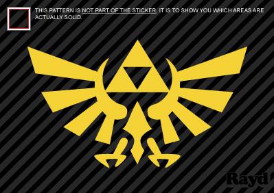 2x Zelda Triforce Symbol Sticker Decal Die Cut Vinyl Ebay